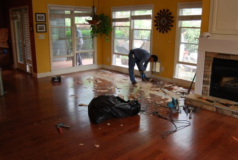 Best Tool For Tearing Up Nailed Down Wood Floor? - Flooring
